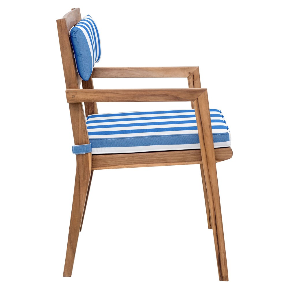Chair Back Nautical Chair Back Cushion Blue And White Dcg Stores