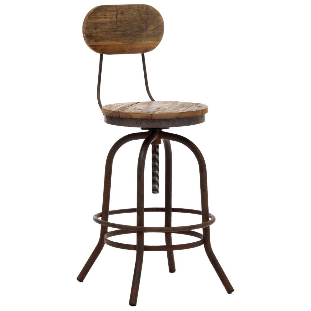 Bar Stool Chair Twin Peaks 24 Quot Counter Chair Antique Metal Distressed