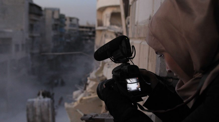 How this Syrian filmmaker captured war first-hand