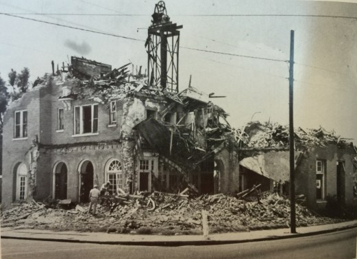 The remains of the Park Terrace on the corner of Main and Orange were demolished in 1969.
