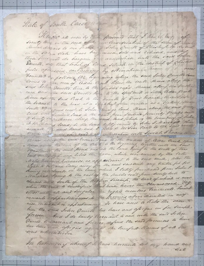 Deed John Eli Gregg to John Parrott - 1834