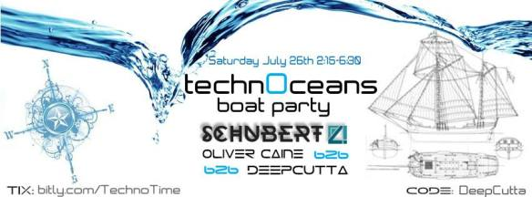 TechnOceans Boat Party with Schubert [SCI+TEC], Oliver Caine & DeepCutta