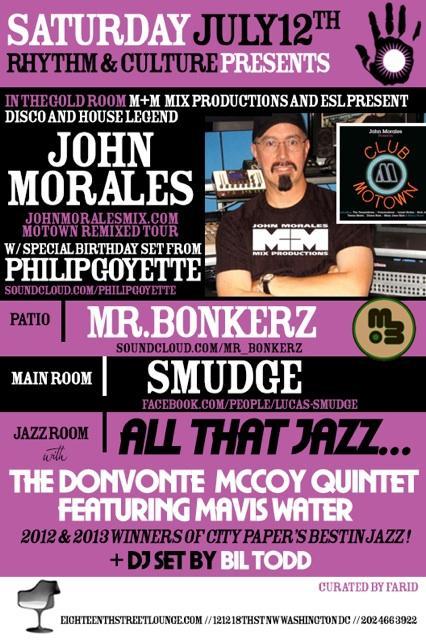 M+M Mix Productions & ESL Present John Morales Club Motown Tour...