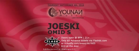 Younan Music Showcase: Joeski & Omid S @ Flash