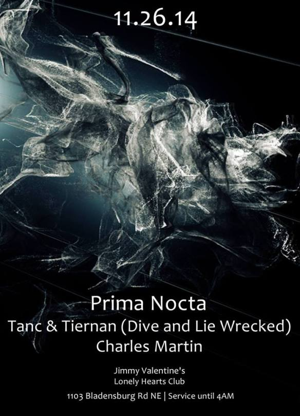 Prima Nocta - feat. Tanc, Tiernan, Charles Martin at Jimmy Valentine's Lonely Hearts Club