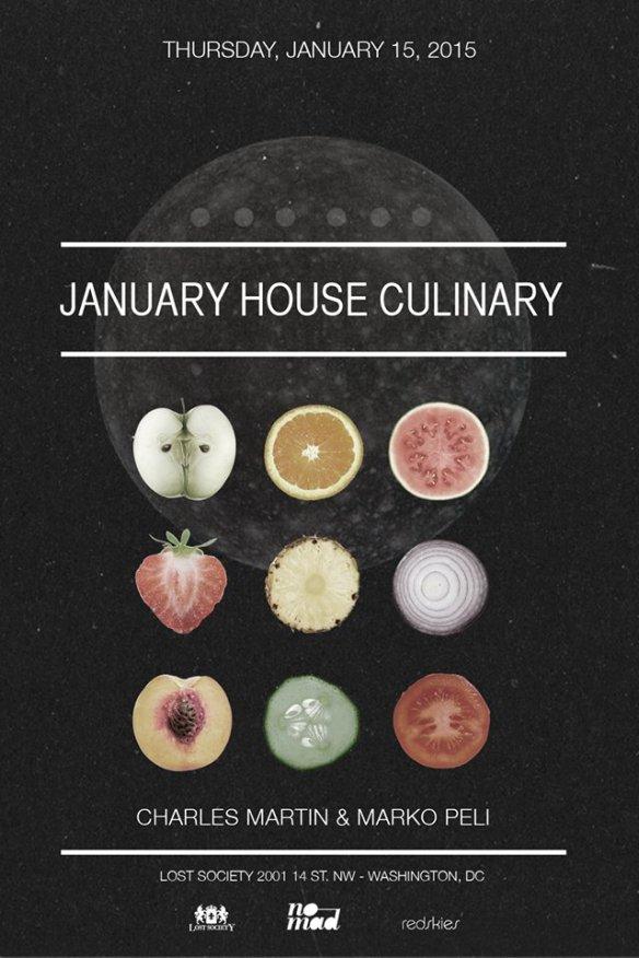 Lost on Thursdays January House Culinary with Charles Martin and Marko Peli at Lost Society