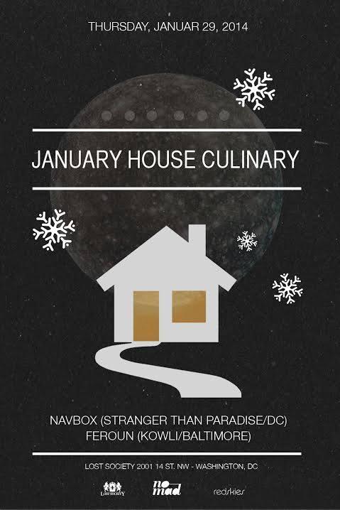 Lost on Thursdays: January House Culinary with Feroun & Navbox at Lost Society
