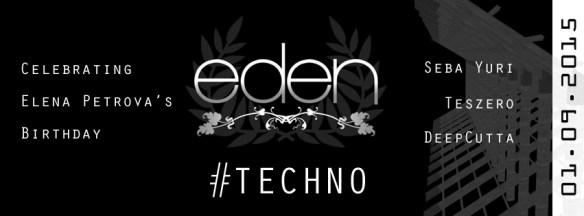 Eden Underground with Seba Yuri, Teszero & DeepCutta at Eden