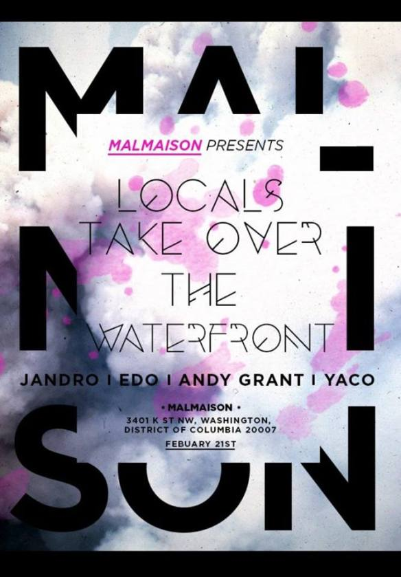 Malmaison presents Locals Takeover the Waterfront III at Malmaison