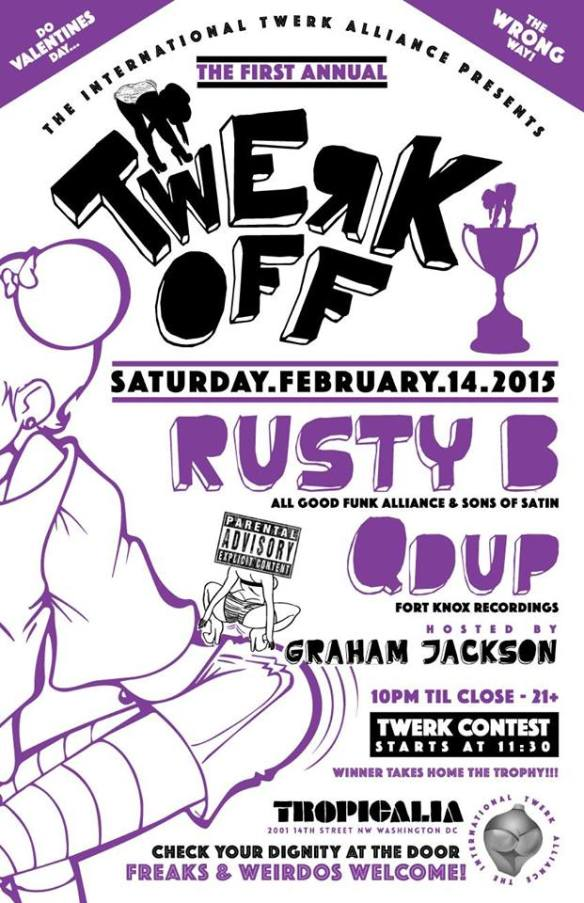 The First Annual Valentines Day Twerk Off w/ Rusty B & Qdup at Tropicalia