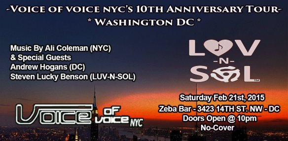 Voice of Voice NYC's 10th Anniversary Northeast Tour at Zeba Bar