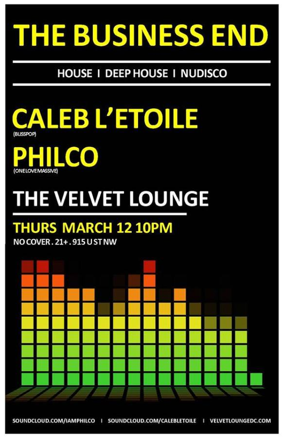 The Business End with Philco & Caleb L'Etoile at Velvet Lounge