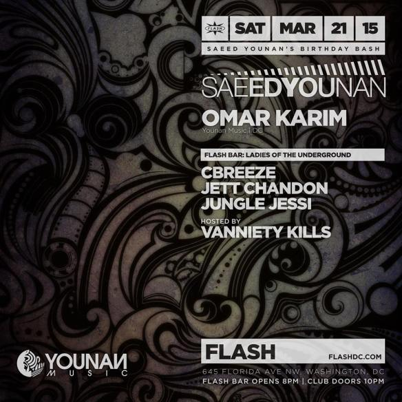 Saeed Younan's Birthday Bash at Flash, with Ladies of The Underground in the Flash Bar