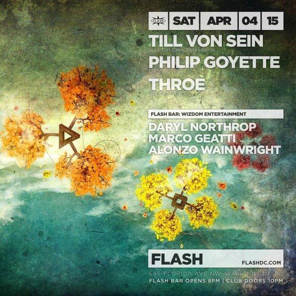 Till Von Sein, Philip Goyette, Throe at Flash with Wizdom Entertainment in the Flash Bar
