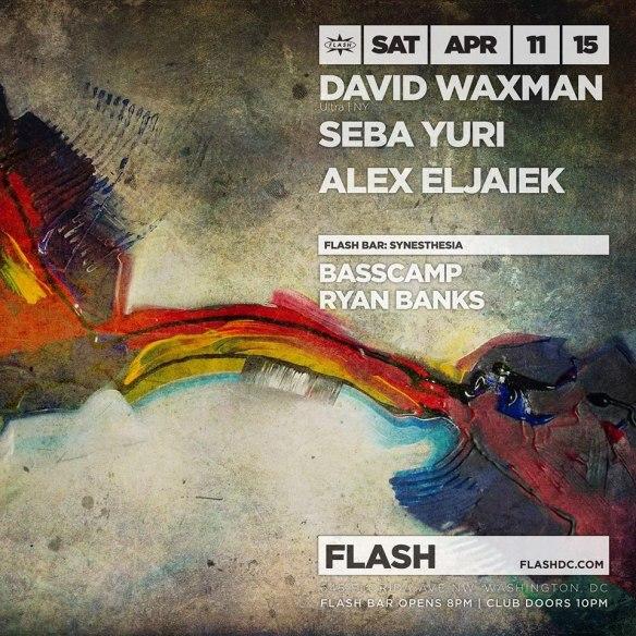 David Waxman, Seba Yuri & Synesthesia at Flash, with Synesthesia in the Flash Bar
