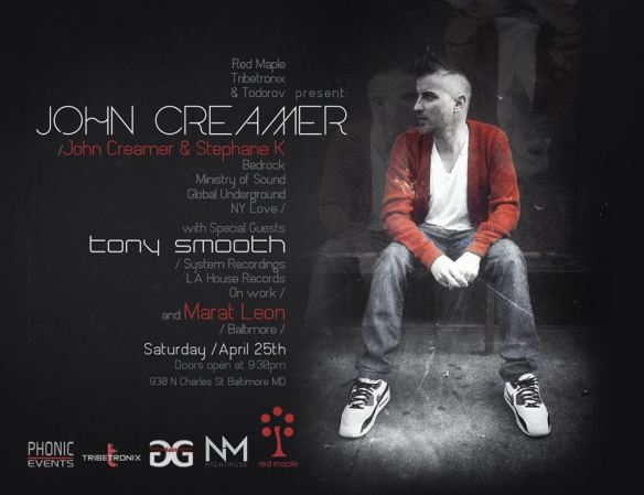 John Creamer (Creamer & Stephane K) & Special Guests at The Red Maple