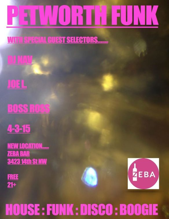 Petworth Funk with DJ Nav, Joe L & Boss Ross at The Looking Glass Lounge