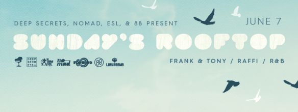 Sundays Rooftop with Frank & Tony, Raffi and R&B on the Patio at Eighteenth Street Lounge