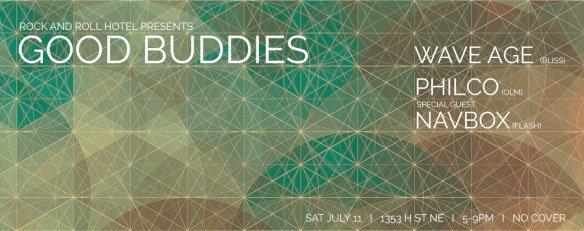 Good Buddies w. Wave Age & Philco ft. Navbox at Rock'n'Roll Hotel