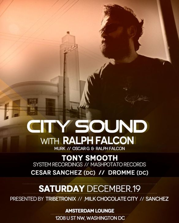Ralph Falcon (MURK), Tony Smooth, Cesar Sanchez & Dromme at Amsterdam Lounge