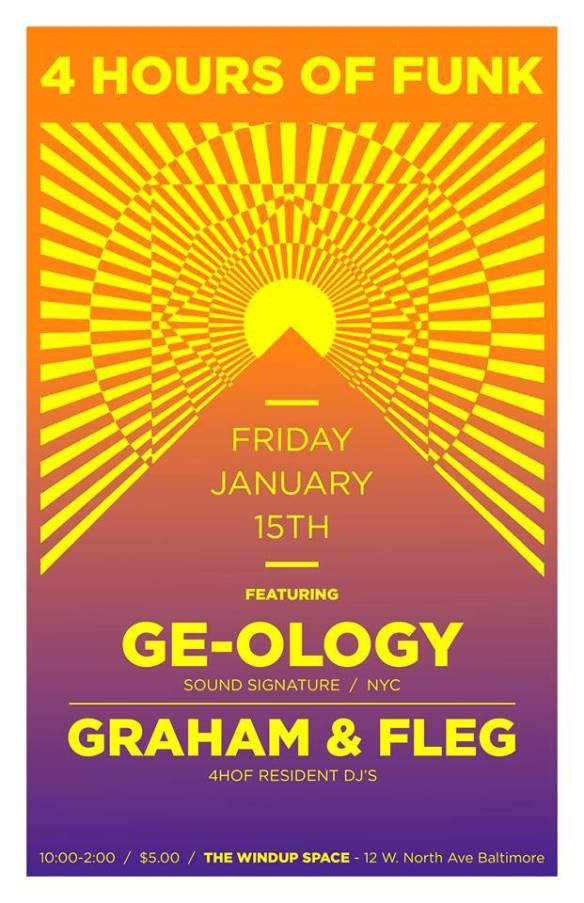 4 Hours of Funk featuring GE-OLOGY, Graham & Fleg at The Windup Space