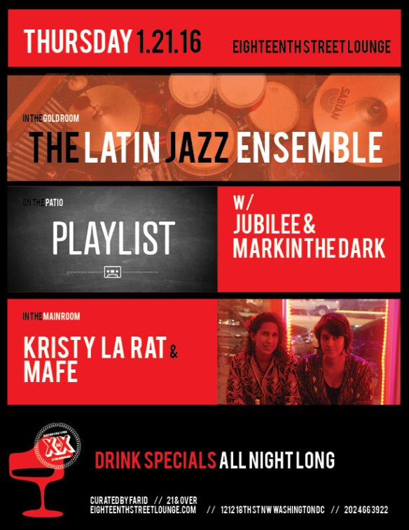 Playlist with Jubilee & Mark in the Dark at Eighteenth Street Lounge