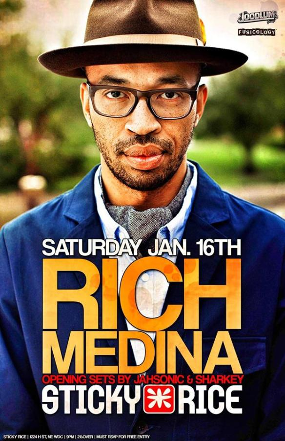 Rich Medina with Jahsonic and Sharkey at Sticky Rice