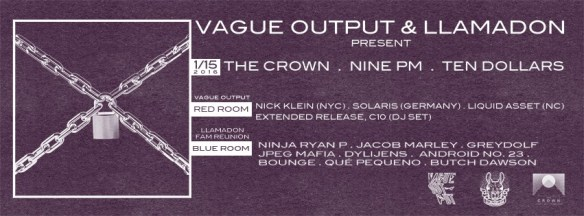 Vague Output and Lampoon Present at The Crown, Baltimore