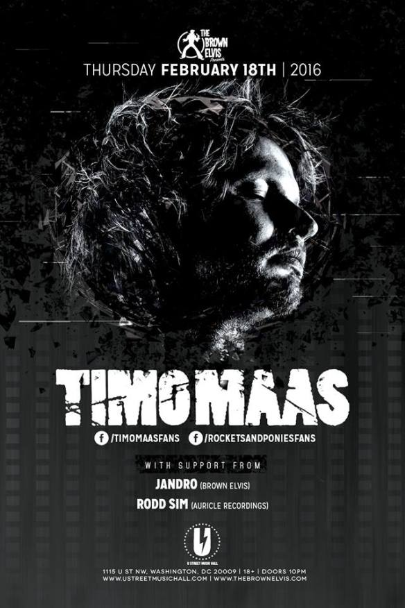 The Brown Elvis presents Timo Maas with Jandro and Rodd Sim at U Street Music Hall