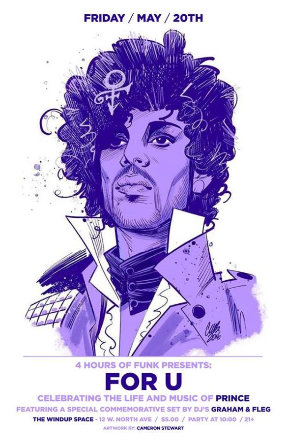 4 Hours of Funk Prince Tribute For U! with DJ's Graham Hatke & Flegn at The Windup Space, Baltimore