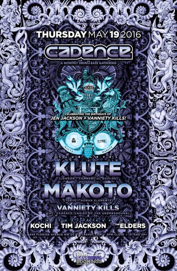 Cadence presents Klute, Mankato, & Robert Manos at Flash with DJ Kochi, Tim Jackson & The Elders in the Flash Bar