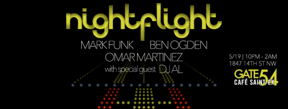 Night Flight with Mark Funk, DFMO and special guest DJ Al at Cafe Saint-Ex