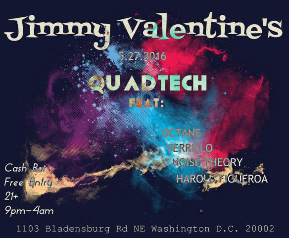 QuadTech feat. Octane, Harold Figueroa, Verrillo & Noise Theory at Jimmy Valentine's Lonely Hearts Club