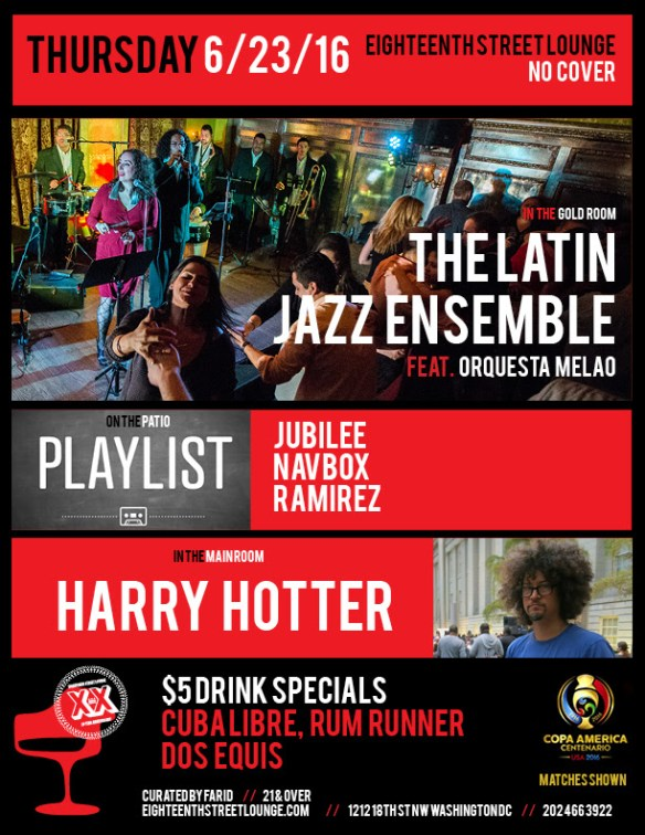 ESL Thursday with Playlist featuring Jubilee, Ramirez and Navbox at Eighteenth Street Lounge