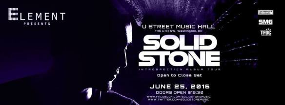 Element presents: Solid Stone - Open to Close at U Street Music Hall