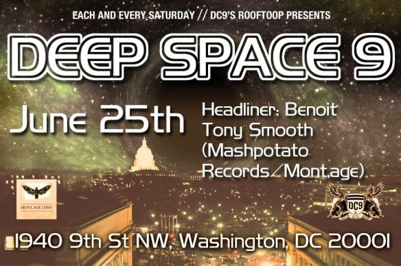 DC9s rooftop presents Deep Space 9 featuring Benoit at DC9 Nightclub