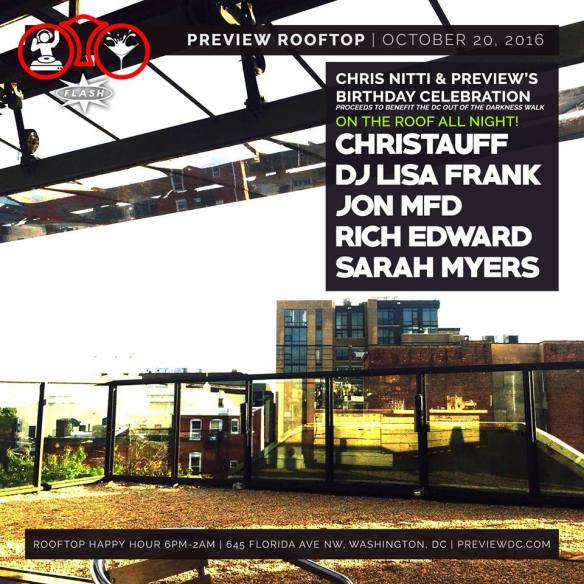 Preview & Chris Nitti's Birthday with Christauff, DJ Lisa Frank, John MFD, Rich Edward and Sarah Myers at Flash