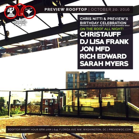 Preview & Chris Nitti's Birthday with Christauff, DJ Lisa Frank, John MFD, Rich Edward and Sarah Myers at Flash
