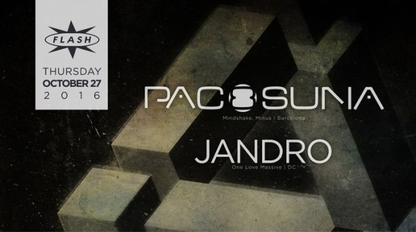 Paco Osuna with Jandro at Flash, with Feel The Love featuring Kerim The DJ & Malik the Drummer in the Flash Bar