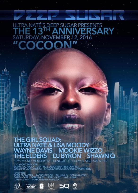 DEEP SUGAR presents Cocoon - The 13th Anniversary with Ultra Naté, Lisa Moody, Wayne Davis, The Elders, Mookie Wizzo & DJ Byron at Location TBA, Baltimore
