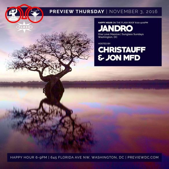 Preview Rooftop Happy Hour with Jandro at Flash