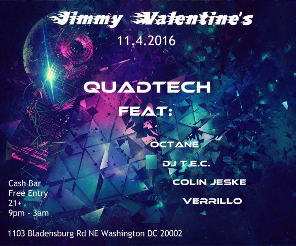 QuadTech feat: Octane, DJ TEC, Colin Jeske & Verrillo at Jimmy Valentine's Lonely Hearts Club