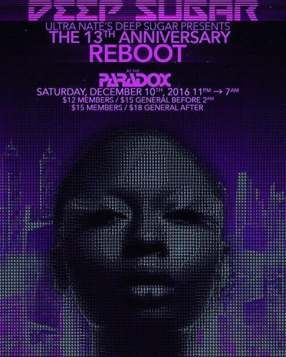 Deep Sugar Anniversary Reboot *Glitch In The Matrix* with Ultra Naté, Lisa Moody, Wayne Davis, The Elders & Mookie Wizzo at The Paradox, Baltimore