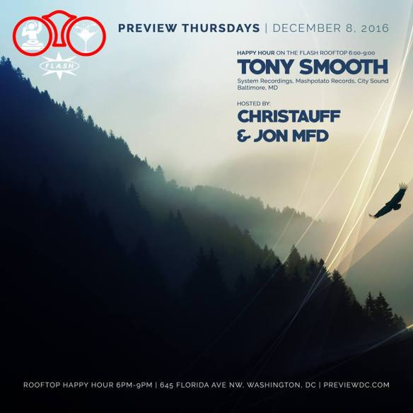 Preview Rooftop Happy Hour with Tony Smooth at Flash