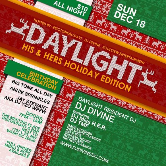 Daylight The His and Hers Edition with DJ Miss H.E.R, DJ TMF and DJ Divine at The Meeting Place Restaurant & Lounge
