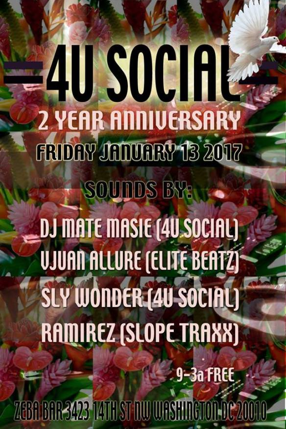 4U Social 2 Year Anniversary with DJ Mate Masie, Vjuan Allure, Sly Wonder and Ramirez at Zeba Bar