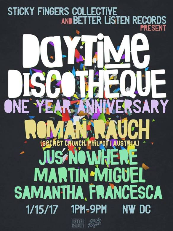 Daytime Discothèque 1 year with Roman Rauch, Jus Nowhere, Martín Miguel & Samantha Francesca at Secret Location