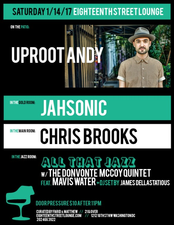 ESL Saturday with Uproot Andy, Jahsonic, Chris Brooks and James Dellastatious at Eighteenth Street Lounge