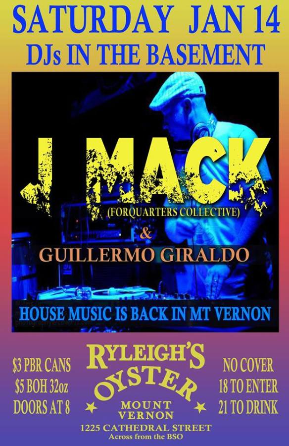 J Mack with Guillermo Giraldo in the Basement at The Basement at Ryleigh's, Baltimore