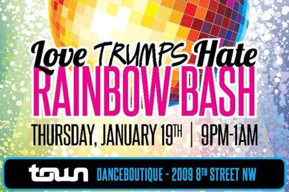 Love Trumps Hate Rainbow Bash with Keenan Orr and Tim Jackson at Town Danceboutique